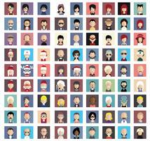 Mensen avatars met kleurrijke achtergronden vector