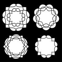 witte medaillonvormen vector