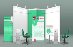 Tentoonstelling Stand Concept vector