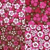 roze roodbruine tropische bloemenpatronen