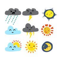 cloud collectie ontwerp vector