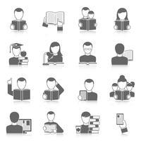 Boeken Icons Set vector