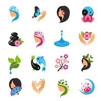 Schoonheid Icons Set vector