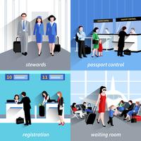 Mensen op de luchthaven vector