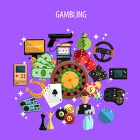 Gokken en Games Concept vector