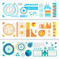 hud interface banners vector