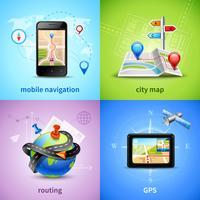 Navigatie Concept Set vector