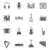 Muziekinstrumenten Icons Set vector