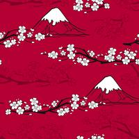 Japans bloemenpatroon vector