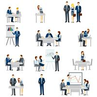 Business Coaching Icons Set