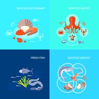 zee voedsel pictogram plat vector