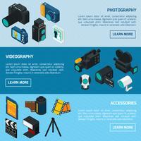 Foto- en videobanners vector