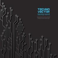 Circuit zwarte achtergrond vector
