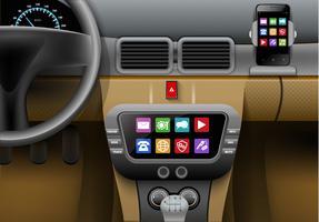 Auto multimedia systeem vector