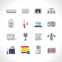 Verwarming Icons Set
