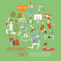 Professionele competitieve team sport concept poster