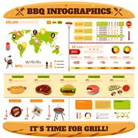 barbecue infographics set vector