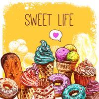 Sweet schets illustratie vector