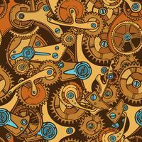 Ingenieurs schetsen naadloze patroonkleur