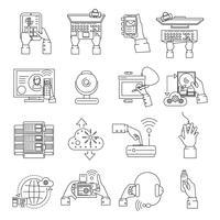 het apparaten iconen lijn