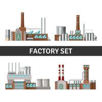 Realistische fabrieksset vector