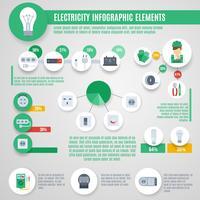 Elektriciteit Infographics Set vector