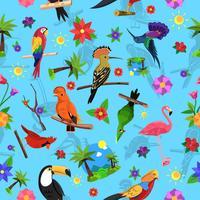 Vogel naadloze patroon vector