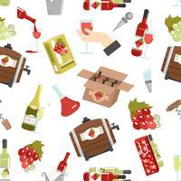 Wijn kleur naadloze patroon vector
