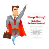 Superheld zakenman poster vector