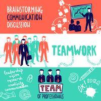 Teamwork Banners schets