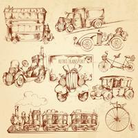 Vintage transportschets vector