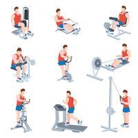 Oefening Machines Set vector