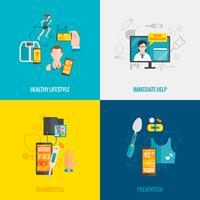 digitale gezondheidsflat vector