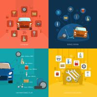 auto service ontwerpconcept vector
