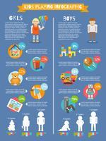 Kinderen spelen Infographics vector