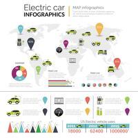 Elektrische auto Infographics vector