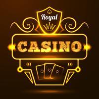 Casino-neonreclame vector