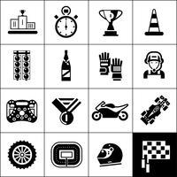 Racing iconen zwart