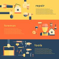Home Reparatie Tools Banners vector