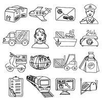 Logistieke pictogrammen instellen vector