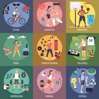 Sport Mensen Concepten vector
