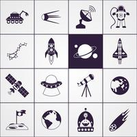 ruimte pictogrammen zwart