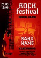 Rock concertposter