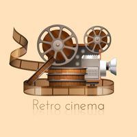 Retro film illustratie