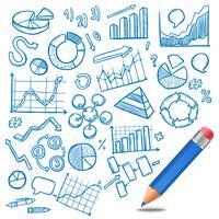Grafieken en diagrammen Schets vector