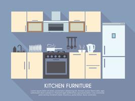 Keukenmeubilair Illustratie vector
