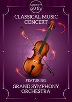 Klassieke muziekposter vector