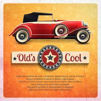Retro auto Poster vector