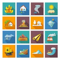 Natuurramp iconen