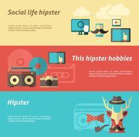 Hipster-bannerset vector